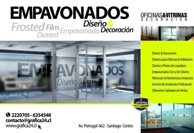 Adhesivos empavonados para vitrinas y oficinas