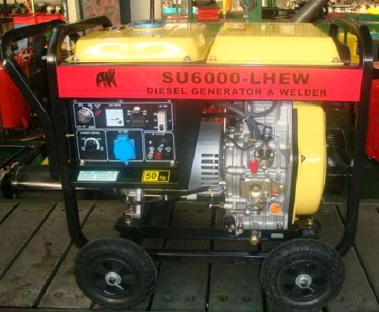Generador motosoldadora diesel 2x1 bear machine