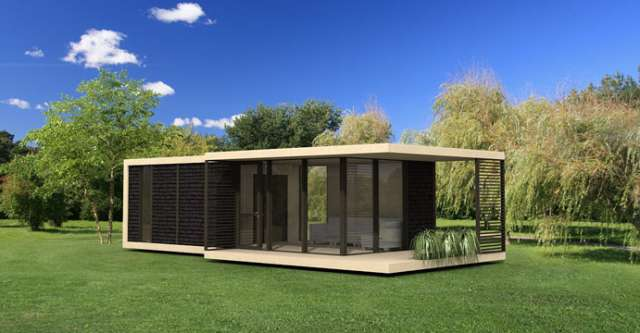 Planos cabaña moderna 45 metros cuadrados