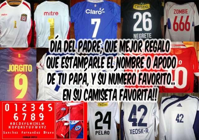 Estampado camisetas nombre y numero todos los equipos y años en ... 31529e754a3a1