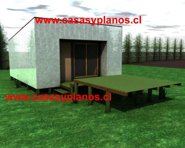 Cabaña pequeña 28 metros cuadrados para construir a pedido