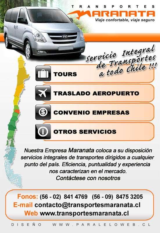 Transporte privado de pasajeros, traslado de personal y turismo. arriendo de vans, autos, minibuses y buses con chofer