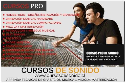 Cursos de sonido y producción musical