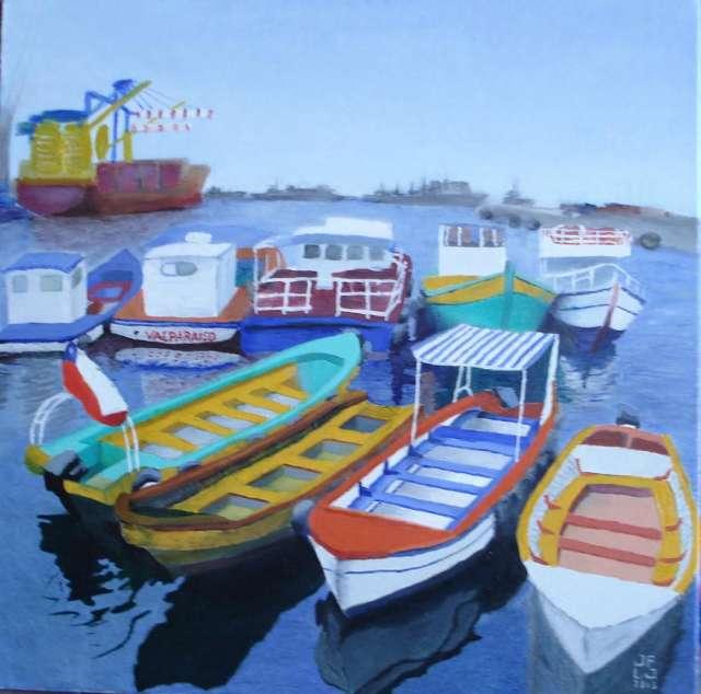 Venta de cuadros originales con escenas de la costa de valparaiso