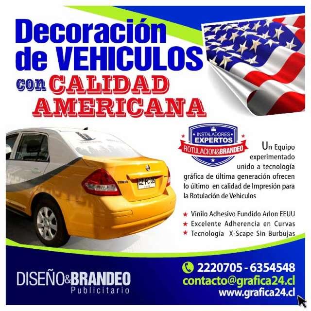 Rotulacion de vehiculos con grafica adhesiva publicitaria