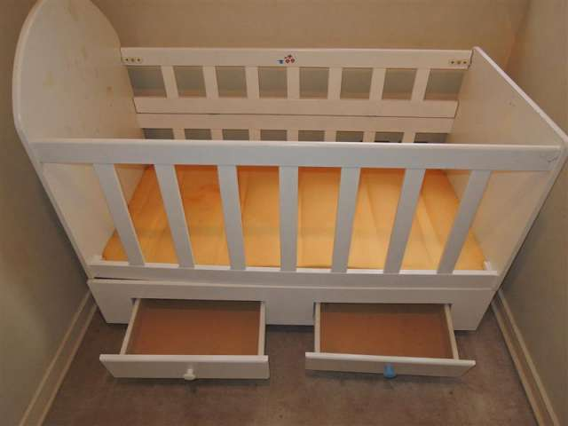 Cuna de madera usado para bebé. precio conversable en Huechuraba ...