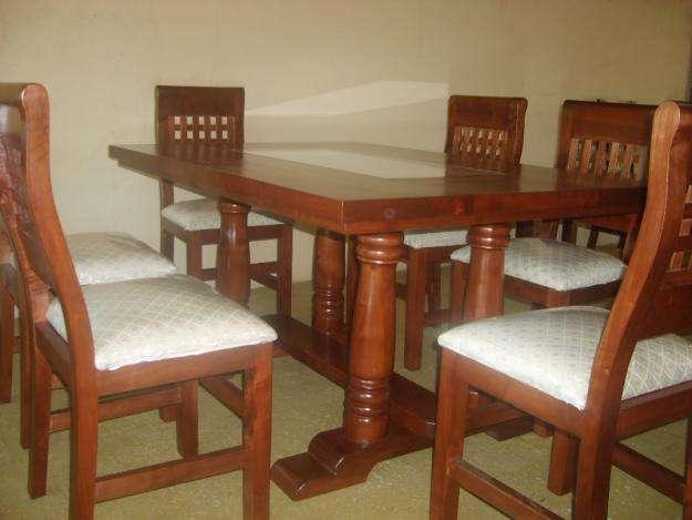 Fabricamos comedores en madera rauli en Malloa - Muebles | 504823
