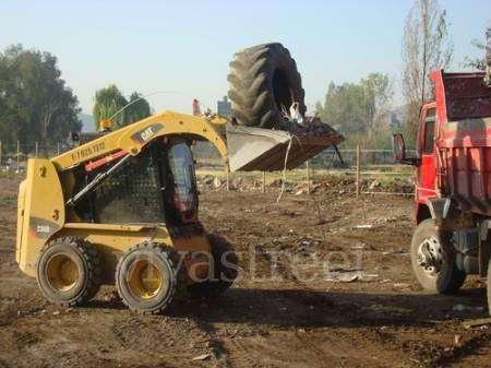 Retiro de escombros,venta de aridos,arriendo de minicargadores