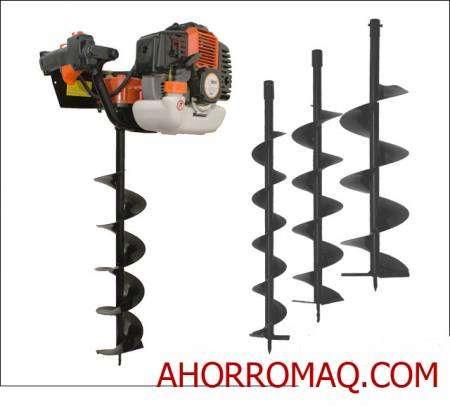 Hoyadora , ahoyador, ahoyadora , perforador de tierra a motor