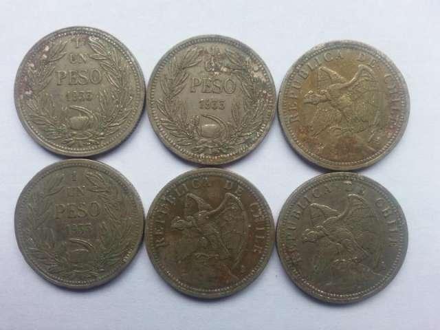 Vendo monedas de un peso del año 1933
