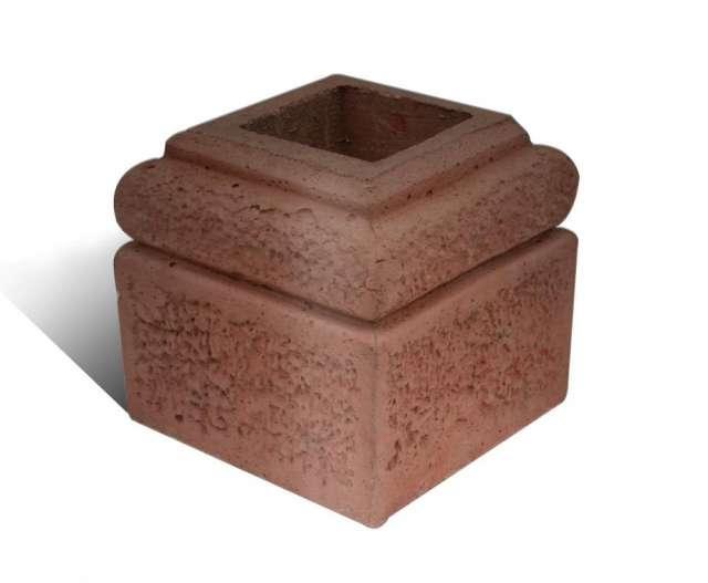 Bases de hormigón para pilares de madera, techos y quinchos