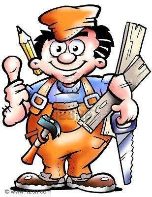 Ceramista, gasfiter, carpintero, albañil, pintor