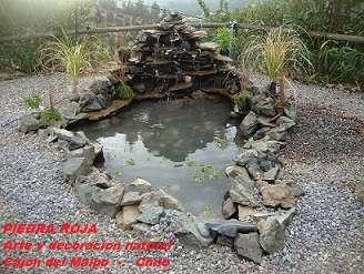 Jardines acuaticos,cascadas,estanques ,fuentes de agua,bebederos,lavamanos en piedra.