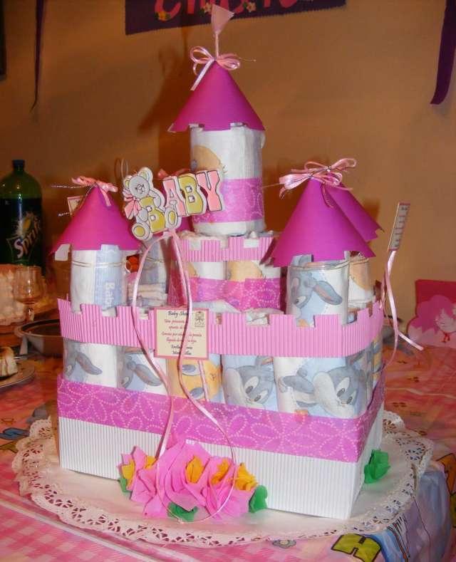 Torta de pañales - baby shower - decoracion