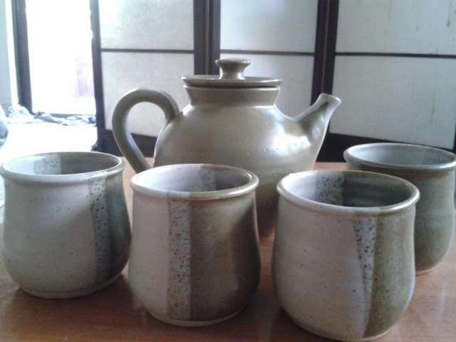 Juego de te en cerámica gres