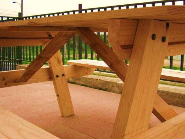 Mesa terraza jardin picnic en Villa Alemana Decoracin y jardn