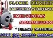 Gasfiteria y alcantarillados plomer services  24922753//92221040