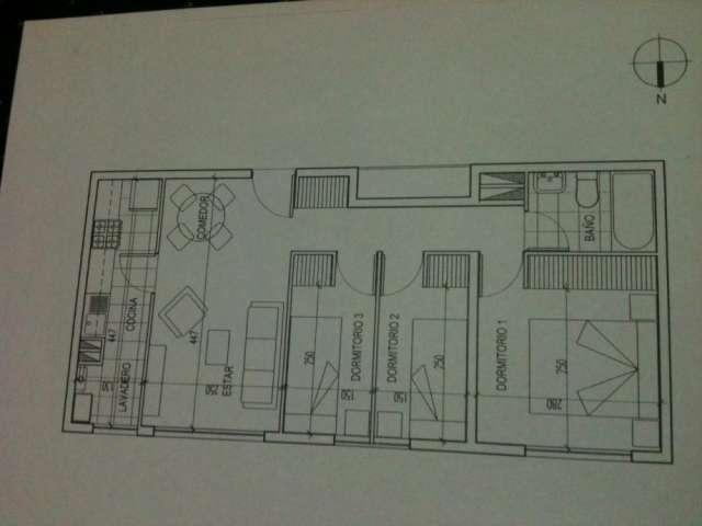 Departamento 3 dormitorios santiago, a pasos del metro (valor arriendo incluye gastos comunes edificio)