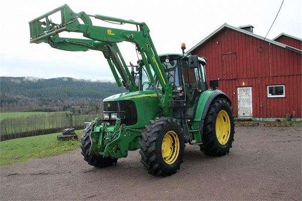 Tractor agrícola john deere 6320 con cargador frontal