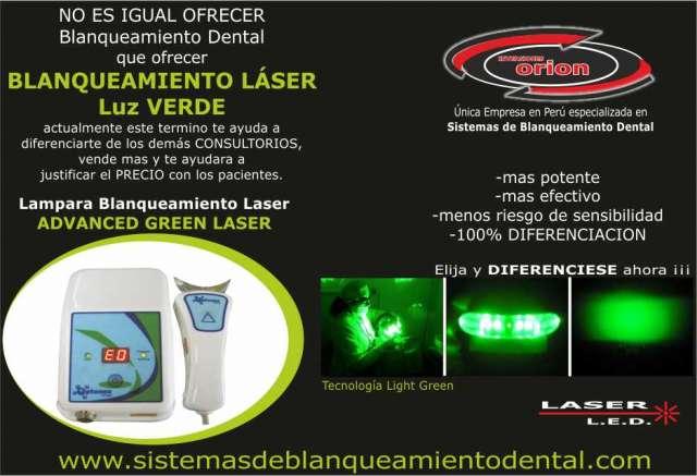 Lampara blanqueamiento dental laser green