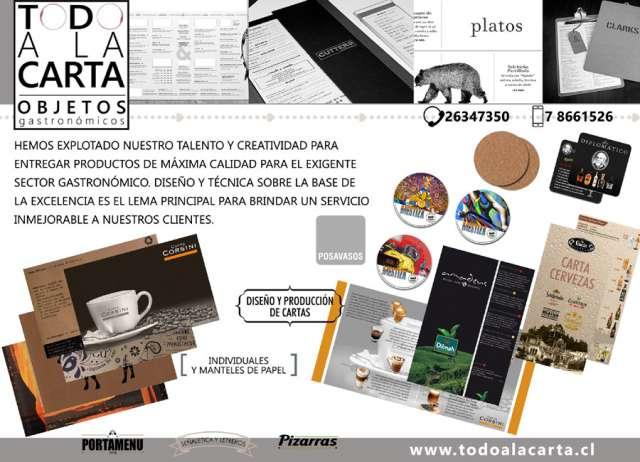 Diseño y producción de cartas para restaurante