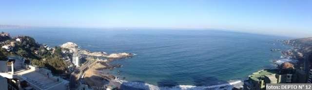 Reñaca arriendo departamento 6 personas, con hermosa vista al mar, piscina temperada