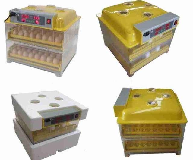 Incubadoras automáticas 112 huevos con volteo y humidificador incorporado