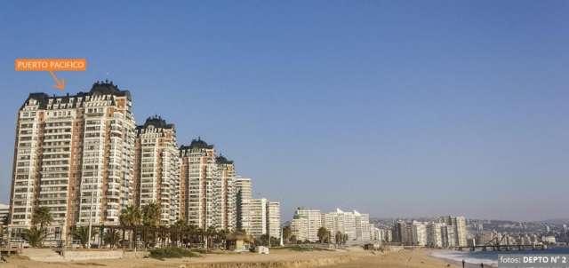 Arriendo departamento viña del mar, 8 personas, ideal para 2 familias, frente playa