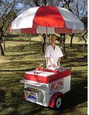 Carrito de hot dog brasileño