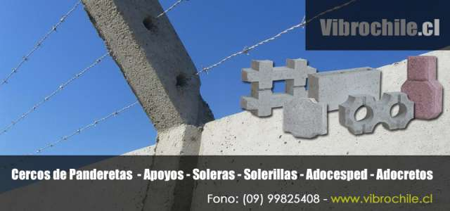 Panderetas de hormigón antofagasta - www.vibrochile.cl