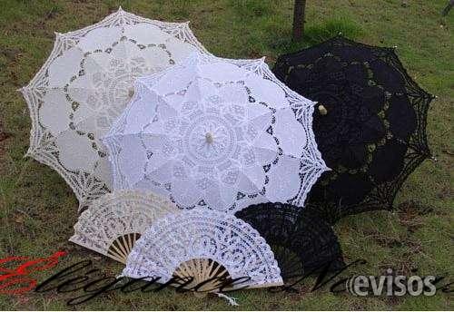 Umbrellas de broderie , abanico , accesorios