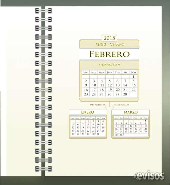 12 separadores mensuales personalizables.