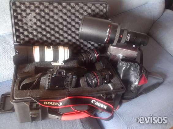 Equipo como nuevo, cámara canon 5d mark ii juego de lentes