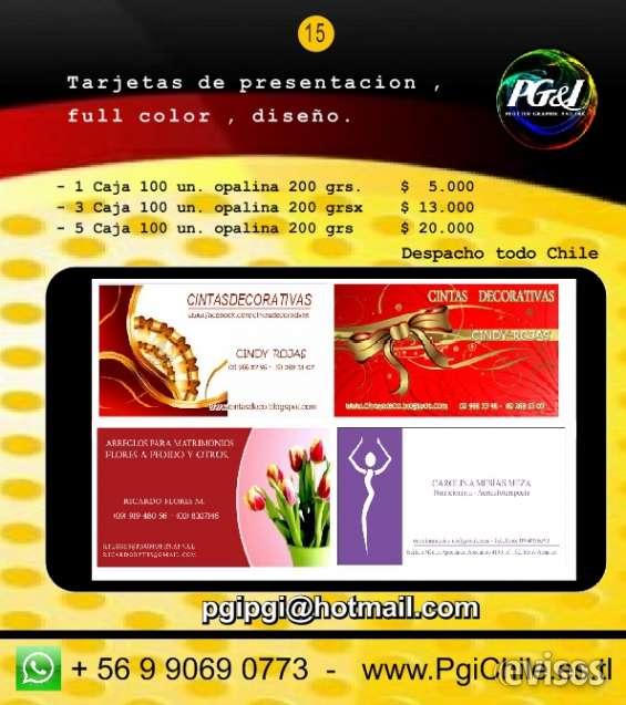 Tarjetas de presentación visita full color diseño gratis