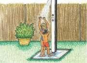venta e instalacion de duchas solar para zonas de piscinas camping