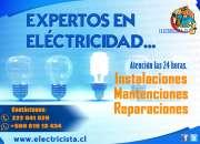 Electricista experto, emergencias las 24 horas en todo Santiago.