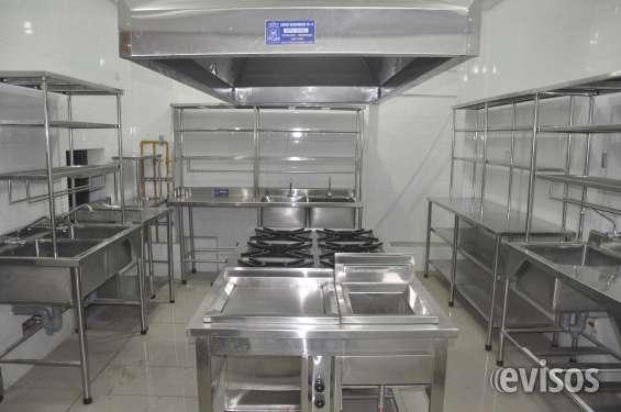Equipamientos gastronimicos cocinas industriales,hornos, campanas,mesas de trabajo