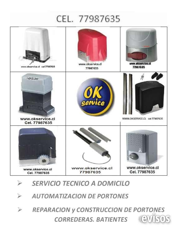Servicio tecnico portones automaticos,todas las marcas, v region cel. 977987635