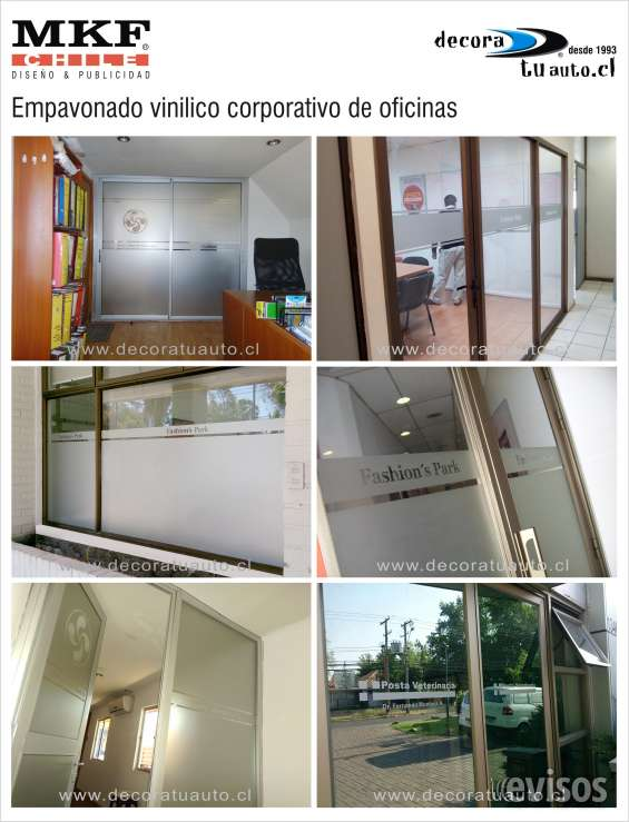 Laminado empavonado de vidrios corporativos oficinas
