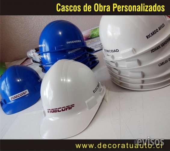 Kit logotipos autoadhesivos resistentes al agua para cascos de obra