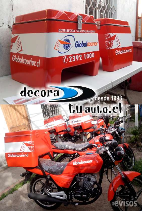 Rotulación cajas de motos empresas delivery