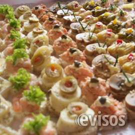 Canapes , brochetas, tapaditos, petit bouche , etc..
