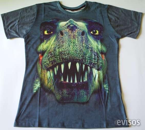 Poleras exclusivas con impresion 3d diseño dinosaurio