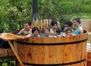 Arriendo de tinas de maderas hot tubs para eventos,despedidas de solteros ,reuniones famil