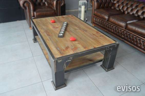 Muebles estilo industrial fierro madera andres gasman en Buin