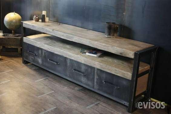 muebles fierro madera nativa estilo industrial andres gasman - Muebles Estilo Industrial