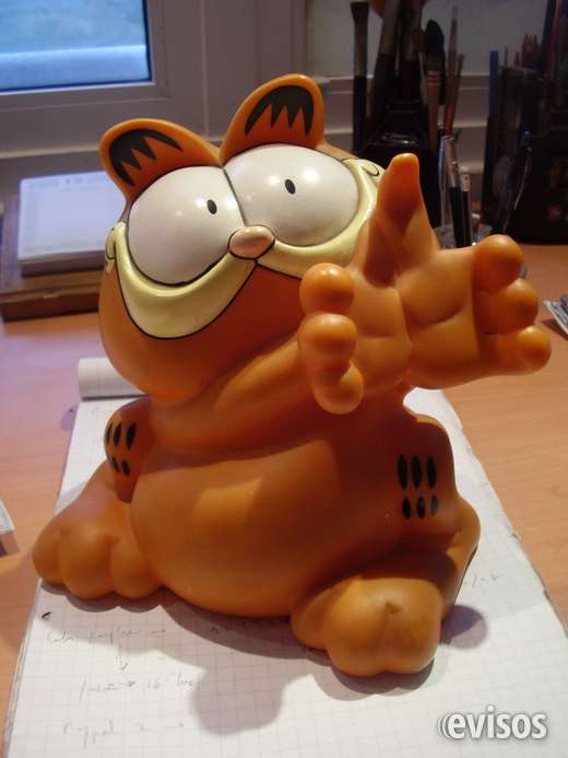 Garfield figura plastico tipo alcancia