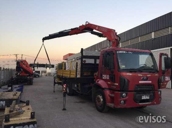 Arriendo camion pluma santiago container