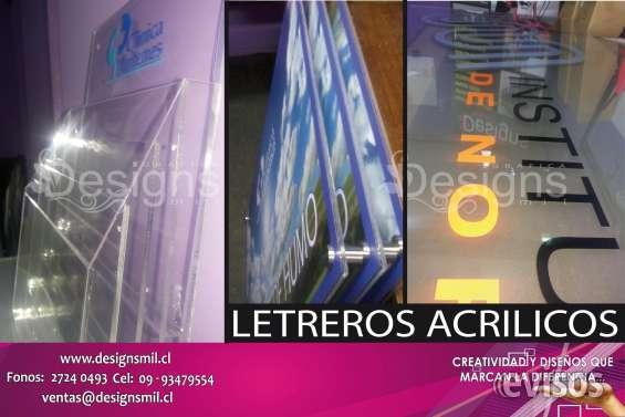 Letreros acrilico