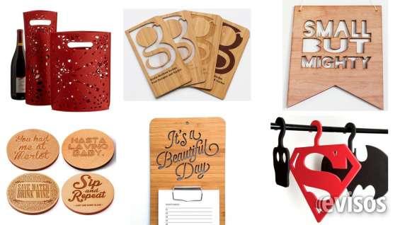 Colgadores, posavasos,tablas,tarjetas de presentación